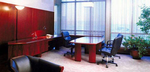 Commercial janitorial services provide a clean office
