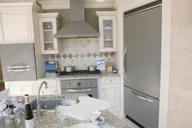 A sparkling clean kitchen